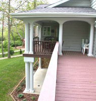 The deck and porch
